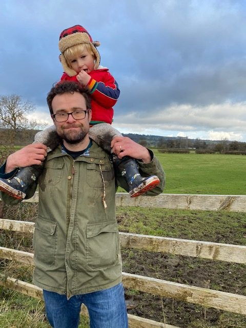 Walking in Yorkshire with a child on your shoulders