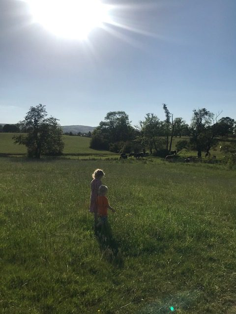 Walking in the Wharfe Valley in West Yorkshire